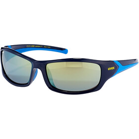 UVEX Sportstyle 211 Glasses, blue/mirror yellow